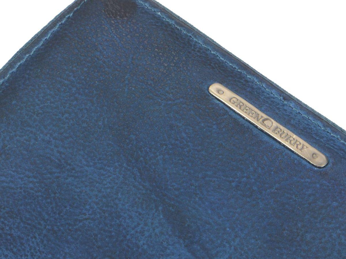 börse Portemonnaie Blau Leder Damen Geldbeutel Greenburry Geldbörse Rv Ewq4a