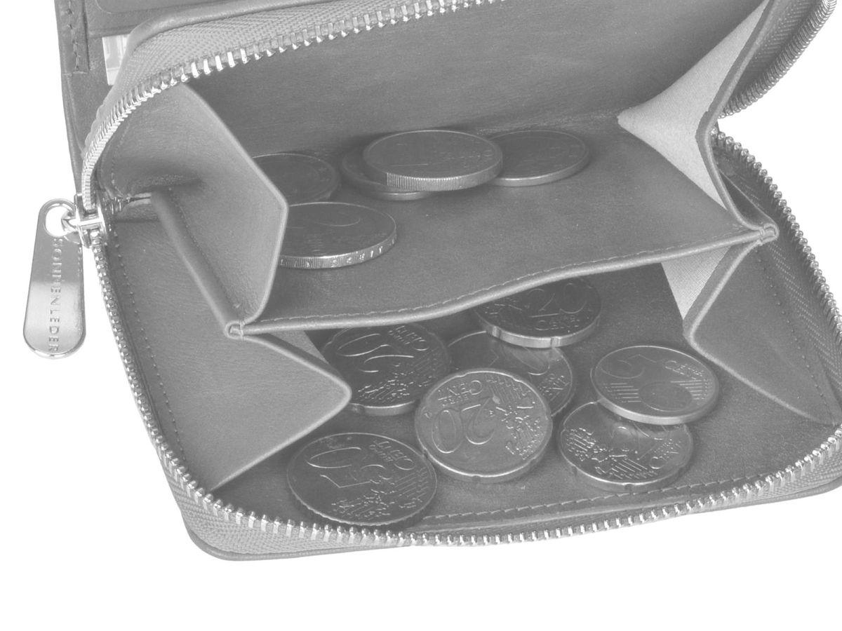 Leder-GeldboerseSin-Herren-der-Reissverschluss-Portemonnaie-Sonnenleder-Sinn Indexbild 34