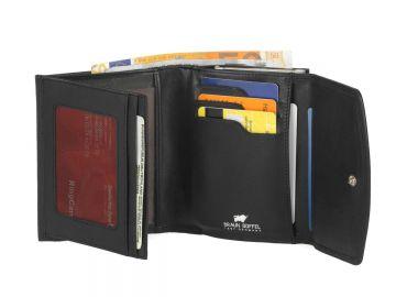 1e31e60cfe145 Damenbörse Leder Geldbörse Bügelbörse Geldbeutel Portemonnaie schwarz od.  rot