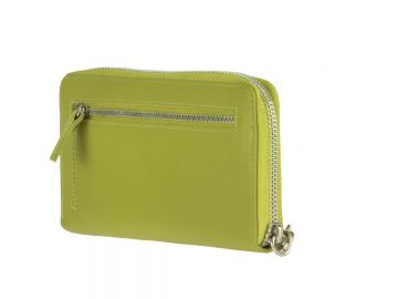 817b22978326a Geldbörse mit Handyfach 14x7cm Damenbörse Geldbeutel Portemonnaie grün