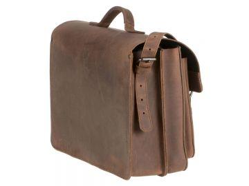 3e4f9df603 Ranger de professeur sac cuir dames hommes Sacoche porte-documents 2  compartiments marron