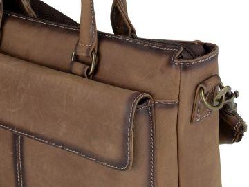 0bd3ea034d186 Greenburry Businesstasche 45cm Leder Damen Buffalo Shopper Handtasche braun