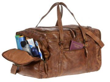 f84498d8b1 Bear design Voyage sac mens sports en cuir brun sac Weekender + entretien  du cuir