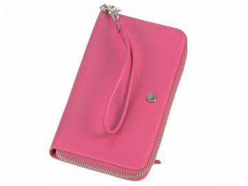 a25cc703dfb17 Geldbörse mit Handyfach 14x7cm Damenbörse Geldbeutel Portemonnaie pink