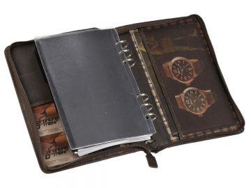 Bind Terminplaner A5 Leder antik braun Terminkalender Kalender Planer Organizer