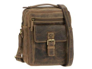 f7fed9fb14716 Herrentasche Umhängetasche Leder braun Tasche Vintage antikbraun Greenburry