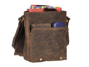 f3aaf5be846fa Leder Umhängetasche braun Messenger Bag Greenburry Vintage Tasche