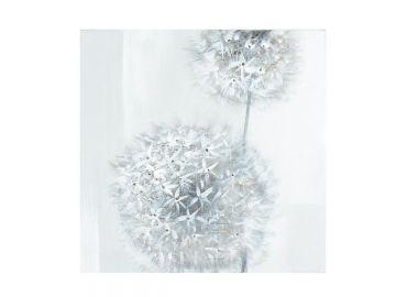 Quadro su tela set fiori alluminio decorazioni tlg cm