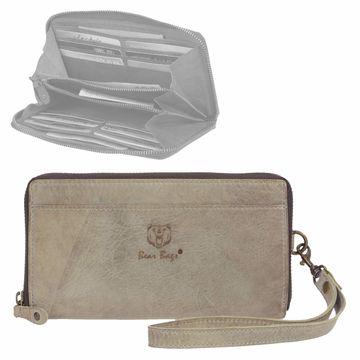 11fd2270d24d13 Bear Design Damenbörse lang mit Reißverschluss 12 Kartenfächer Portemonnaie