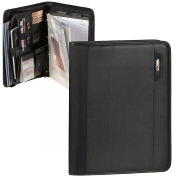 Konferenzmappe mit Tabletfach Schreibmappe A4 Arbeitsmappe Schreibblock braun