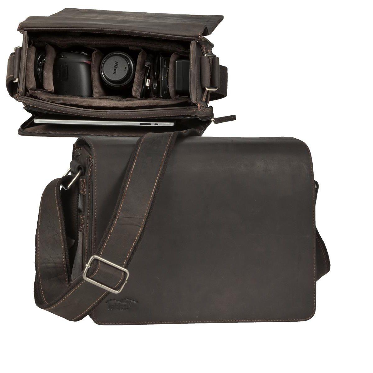Kalahari Kameratasche Videotasche Fototasche Innentasche L-25 Kaama braun