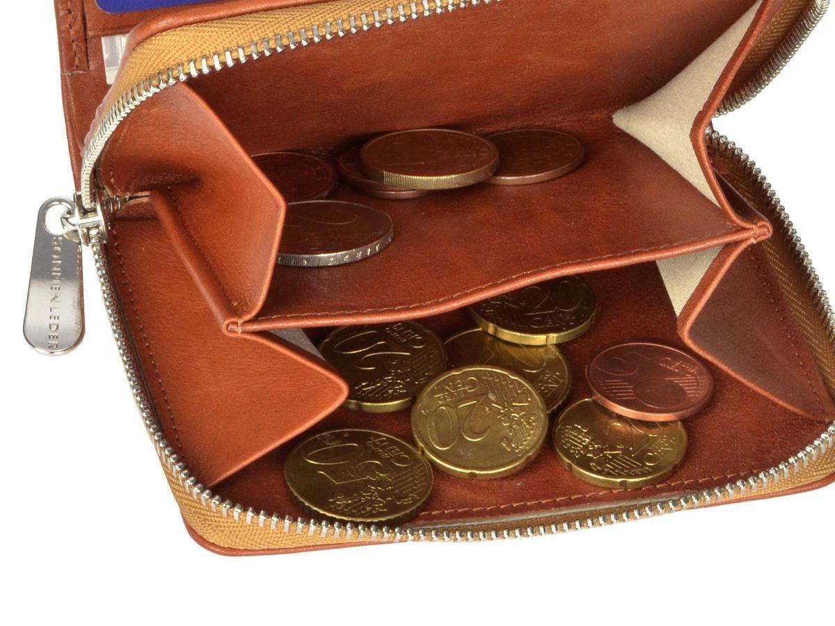 Leder-GeldboerseSin-Herren-der-Reissverschluss-Portemonnaie-Sonnenleder-Sinn Indexbild 22