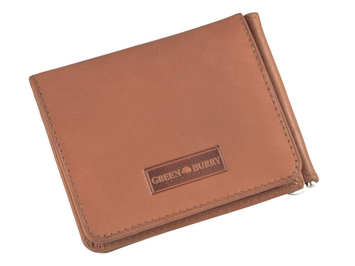 Leder-Dollarclip-Geldboerse-Portemonnaie-Boerse-mit-Klammer-Greenburry-Vintage Indexbild 26
