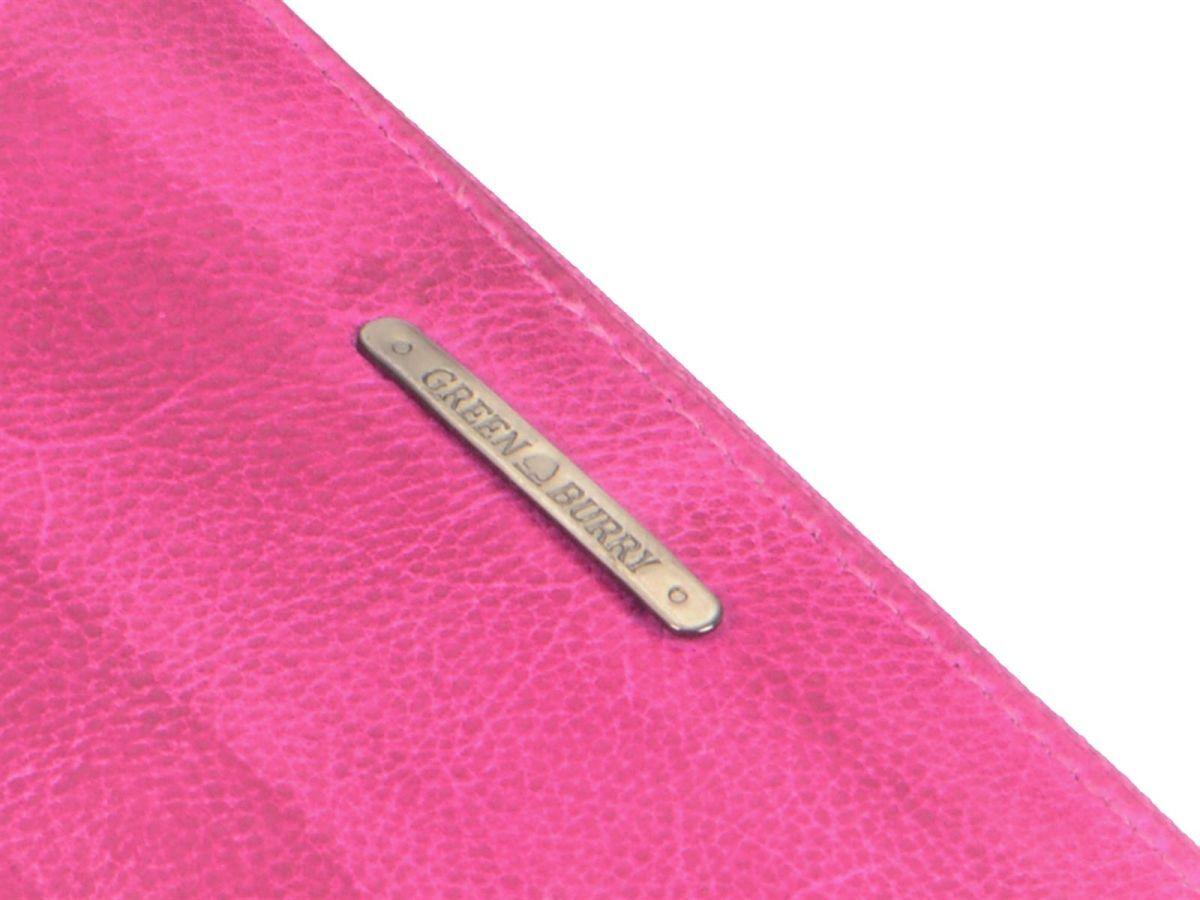 Geldbörse Geldbeutel Greenburry Washed Leder Damen langbörse Pink Dirty 1wxqRv1
