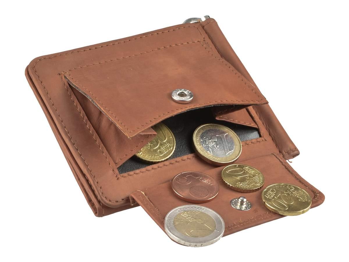 Leder-Dollarclip-Geldboerse-Portemonnaie-Boerse-mit-Klammer-Greenburry-Vintage Indexbild 31