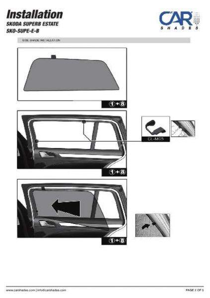Heckscheibe Blenden hinten 09-14 Sonnenschutz Seat Exeo ST Kombi BJ