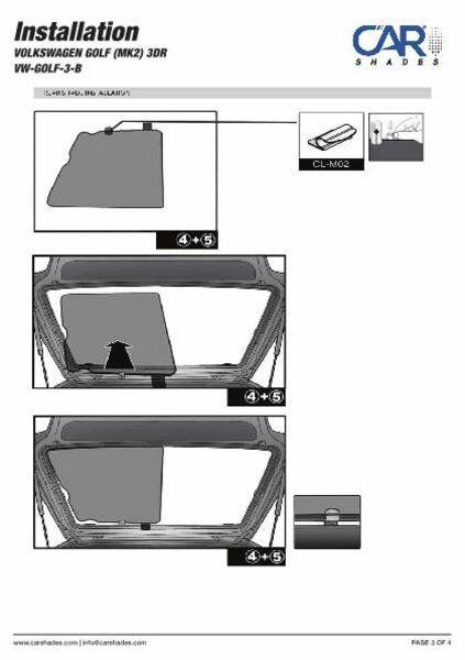 Sonnenschutz VW Phaeton 4-Türer BJ 02-16 6-teilig hinten Heckscheibe