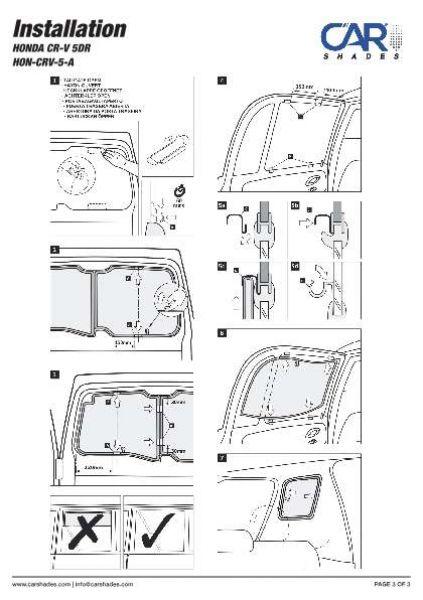 Sonnenschutz Honda HR-V 5-Türer ab 2014 Blenden Heckscheibe hinten