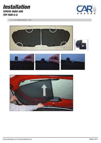 Sonnenschutz Honda Jazz 5-Türer BJ 01-08 Blenden hinten+Heckscheibe 6-teilig