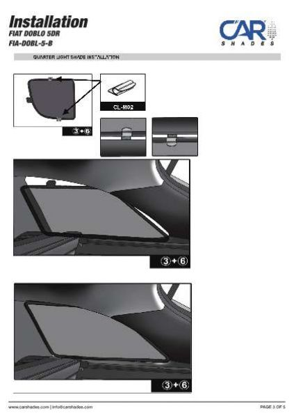 10-15 Blenden hinten Sonnenschutz Fiat Doblo 5-Türer BJ Heckscheibe