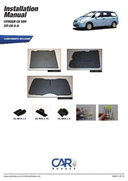 Heckscheibe 02-14 Sonnenschutz Citroen C8 5-Türer BJ Blenden hinten