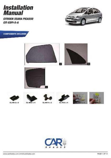 Blenden hinten Heckscheibe 04-13 Sonnenschutz Seat Altea 5-Türer BJ