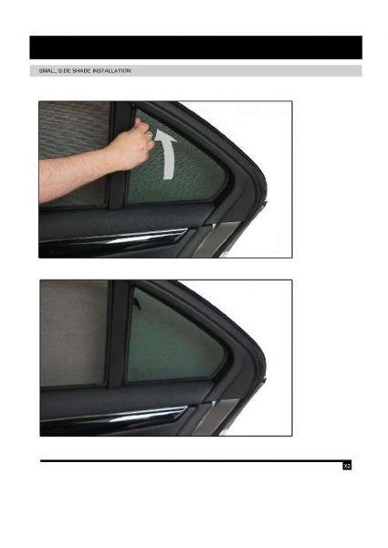 Sonnenschutz für Mercedes Benz C-Klasse 07-14 4-Türer BJ W204 Blenden 2-teil