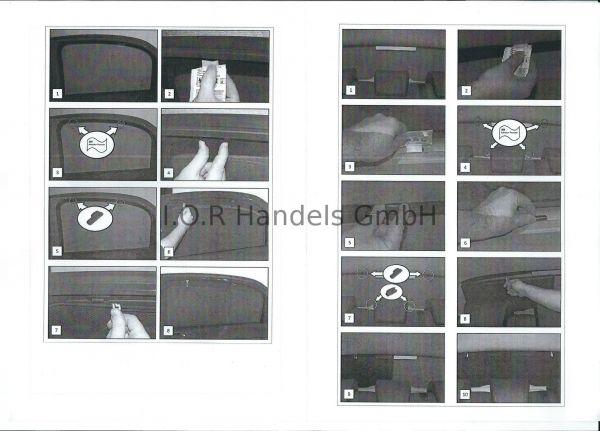 Blenden hinten Sonnenschutz Alfa 159 4-Türer BJ 05-11 Heckscheibe