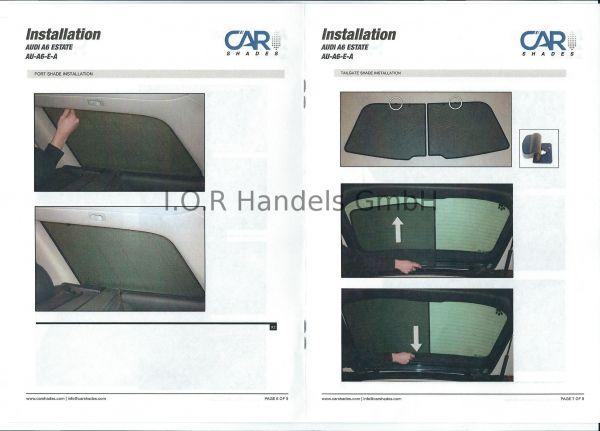 Sonnenschutz Audi A6 Avant 1998-2004 6-teilig