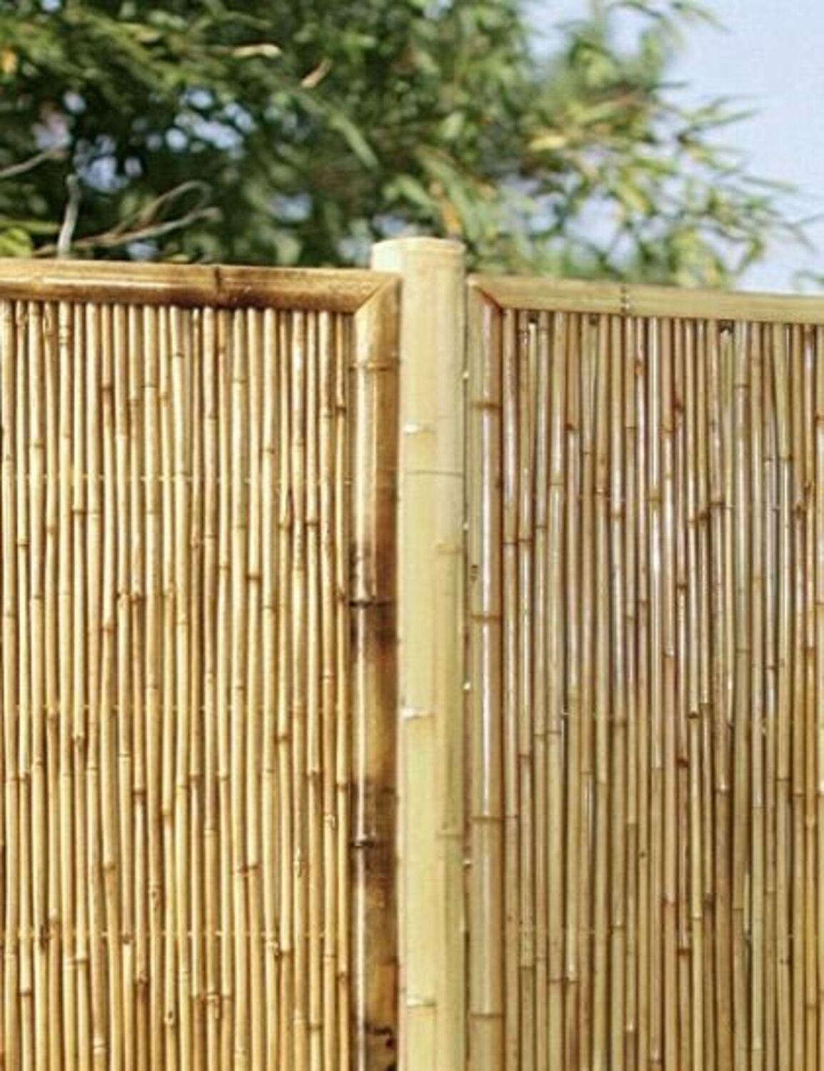 Mittelpfosten Aus Bambus Fur Sichtschutz Guan Zaun Gartenzaun