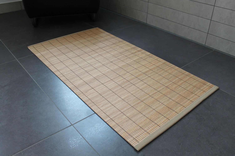 Détails sur Bambou Tapis de Bain Tan 50x90 Natte Salle