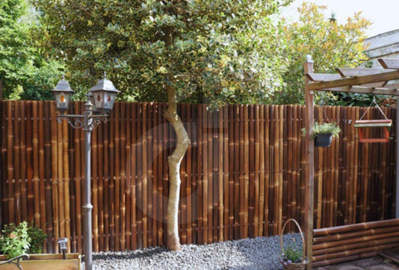 sichtschutz aus bambus gartenzaun bambuszaun zaun xxl nigra circa 180x180 cm ebay. Black Bedroom Furniture Sets. Home Design Ideas