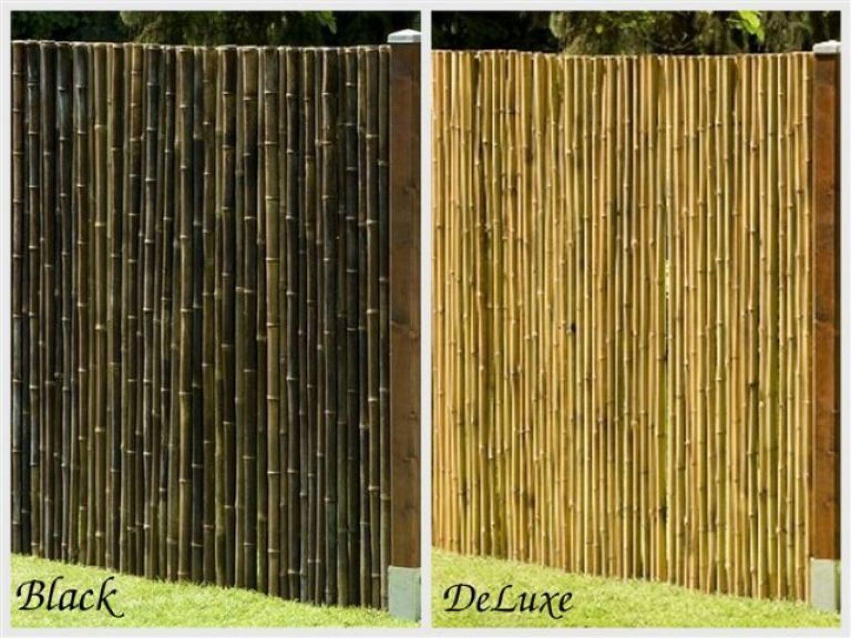 Sichtschutz Aus Bambus Gartenzaun Windschutz Zaun Deluxe Black