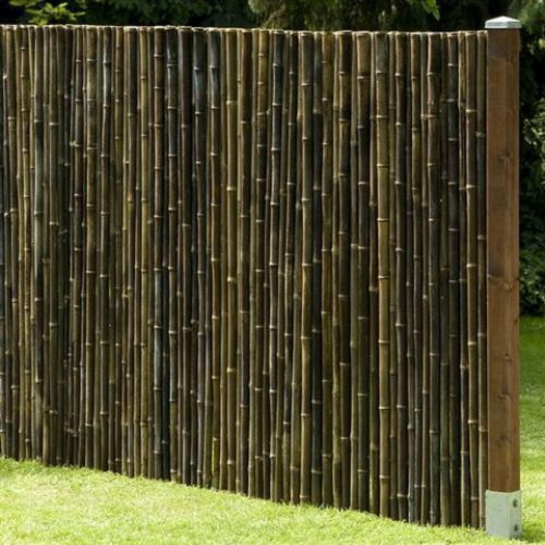 sichtschutz black bambus gartenzaun windschutz bambuszaun zaun circa