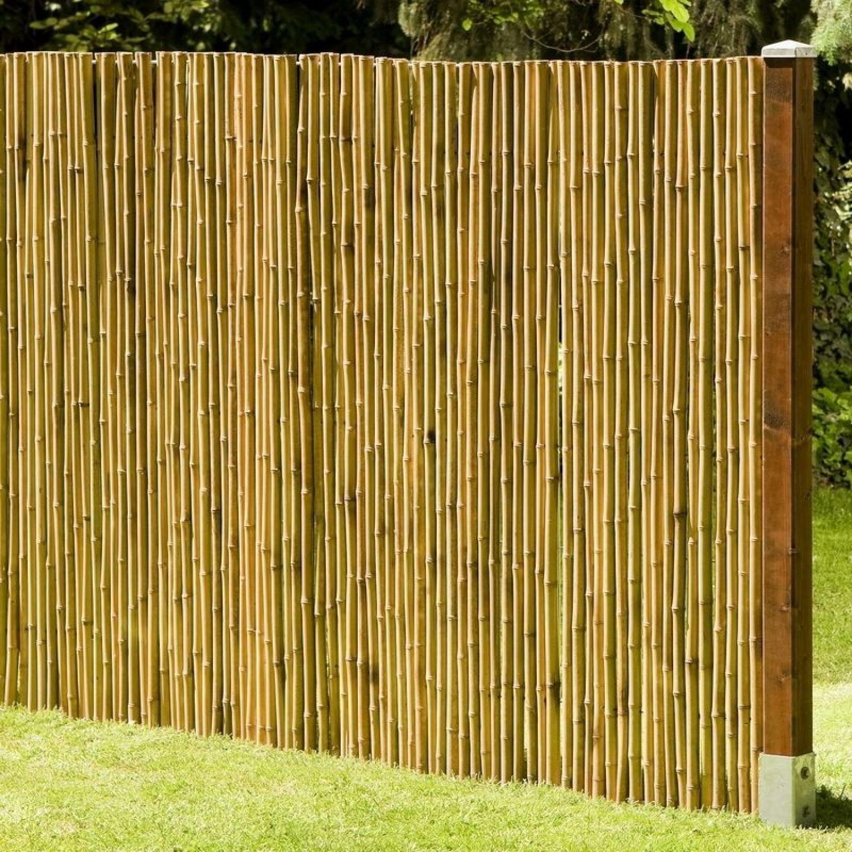 Details zu Sichtschutz aus Bambus DeLuxe Gartenzaun Windschutz Sichtschutzmatte 13 Größen