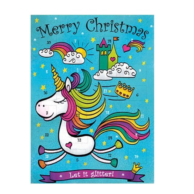 Kinder Weihnachtskalender.Einhorn Adventskalender Gefüllt Mit Schokolade Kinder