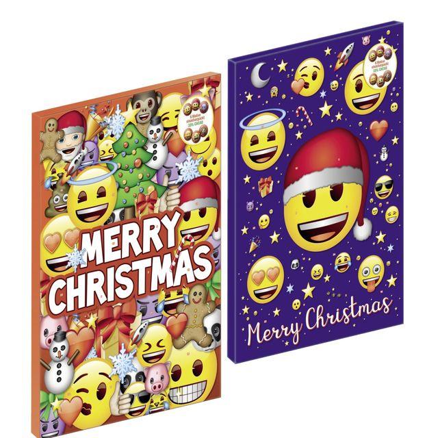 adventskalender emoji weihnachtskalender schokolade kinder weihnachten rot oder ebay. Black Bedroom Furniture Sets. Home Design Ideas