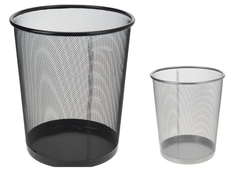 Papierkorb Mülleimer Papiereimer Metall für das Büro|10 Liter|Schwarz|JACOB 2