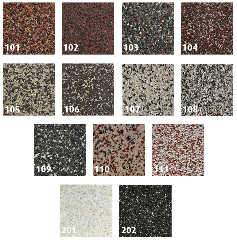 Extrem RyFo Colors Buntsteinputz Mosaikputz Sockelputz versch. Farbmuster KR09