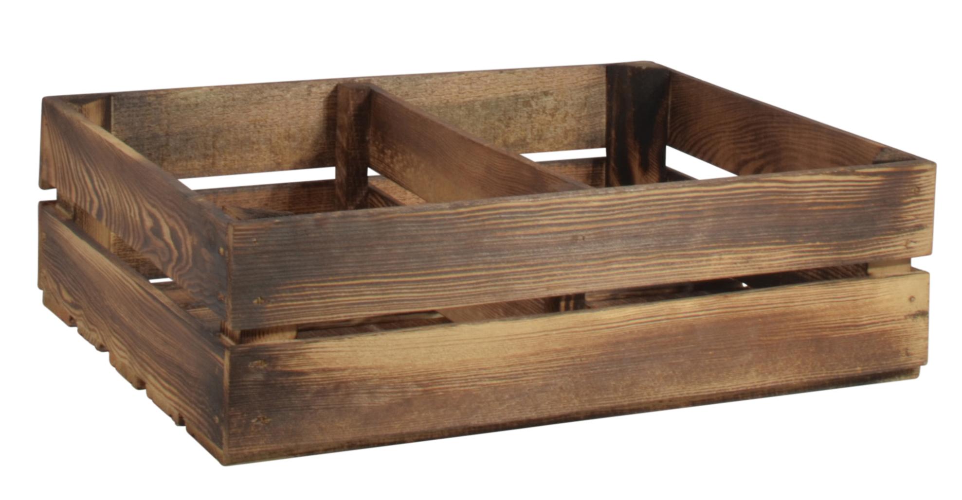 Holzkiste Schmalhanz Geflammt 50x40x15cm Kurzes Regal Gewürzregal Bücherregal