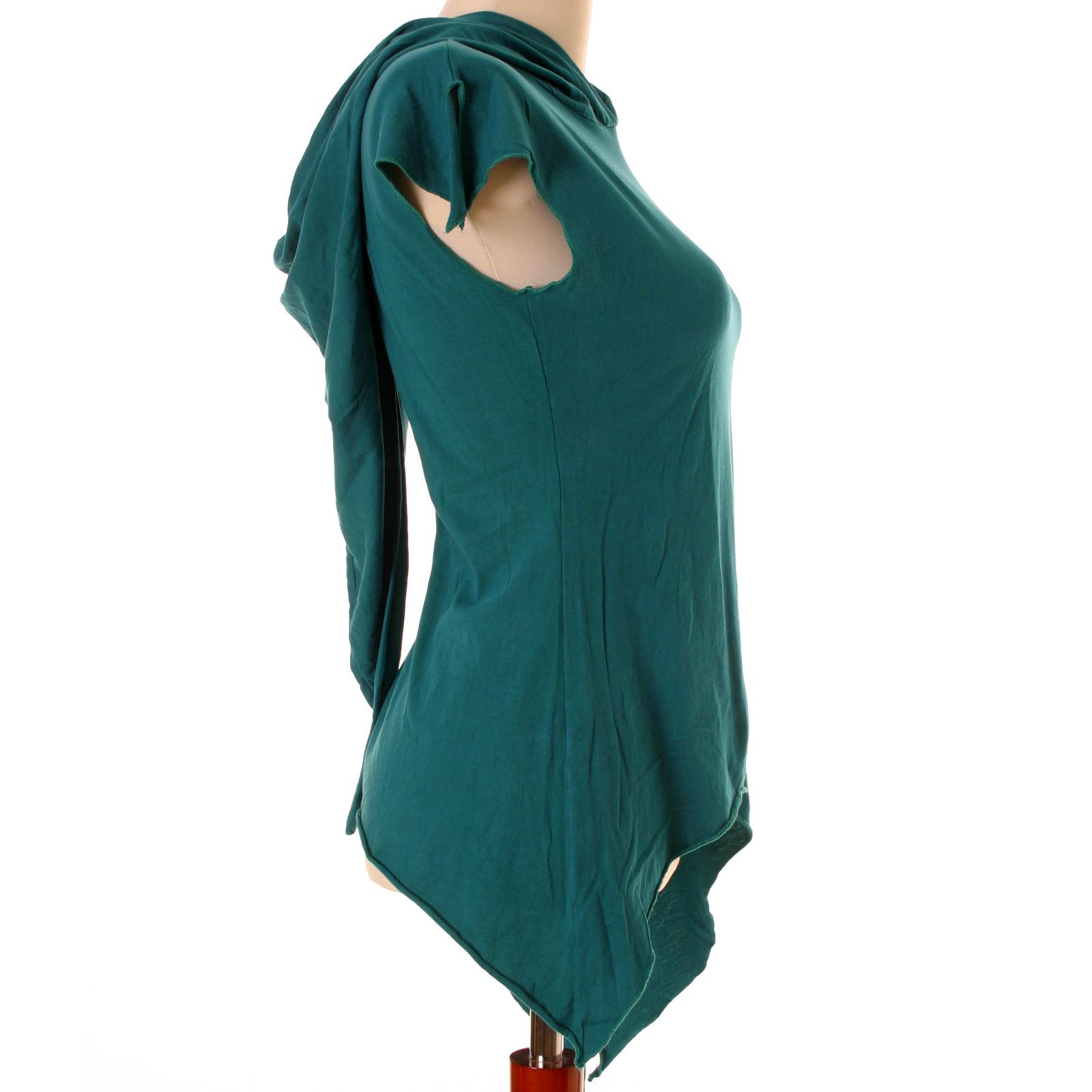 vishes Zipfelshirt Elfen Larp Zipfelkapuze Lagenlook Hippie Pixie Shirt Tunika