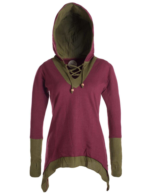 Vishes Tunika Lagenlook warmer Pullover Kapuzen Sweater