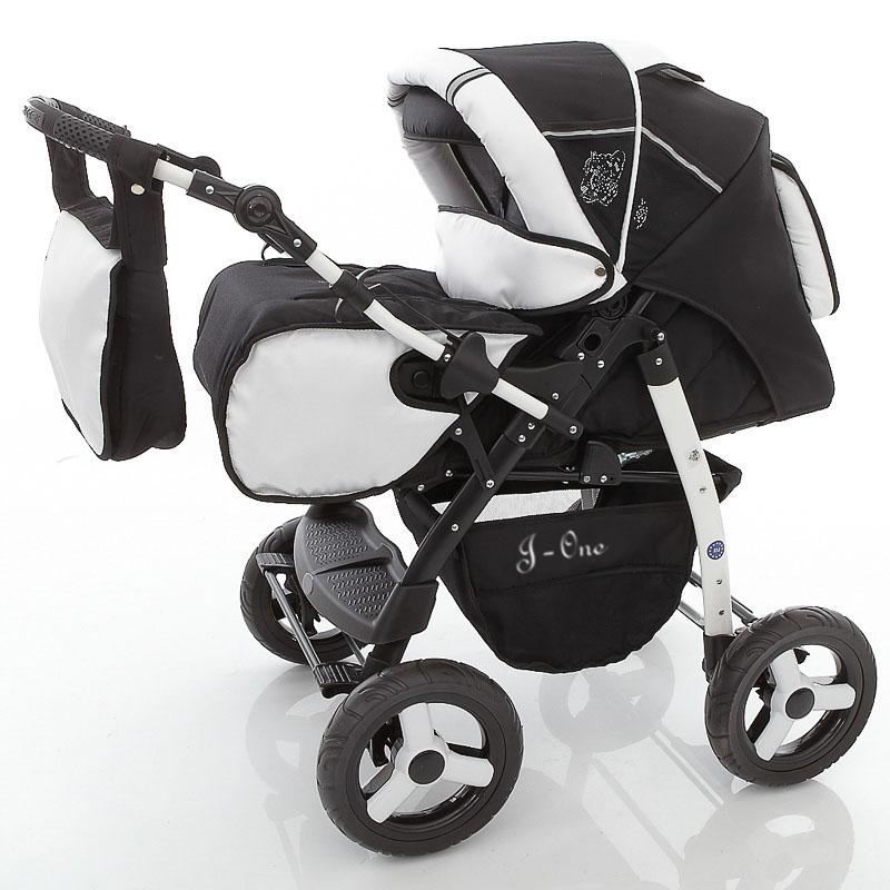 Lux4kids-Poussette-combinee-2en1-avec-Poussette-Canne-Couffin-Accessoires-J-One