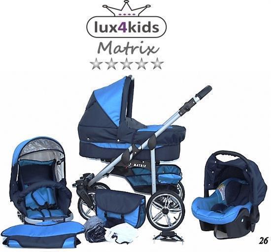 Lux-4-Kids-Poussette-Set-3in1-Buggy-Baignoire-Bebe-Siege-Auto-Nacelle-bebe-Buggy-matrixll