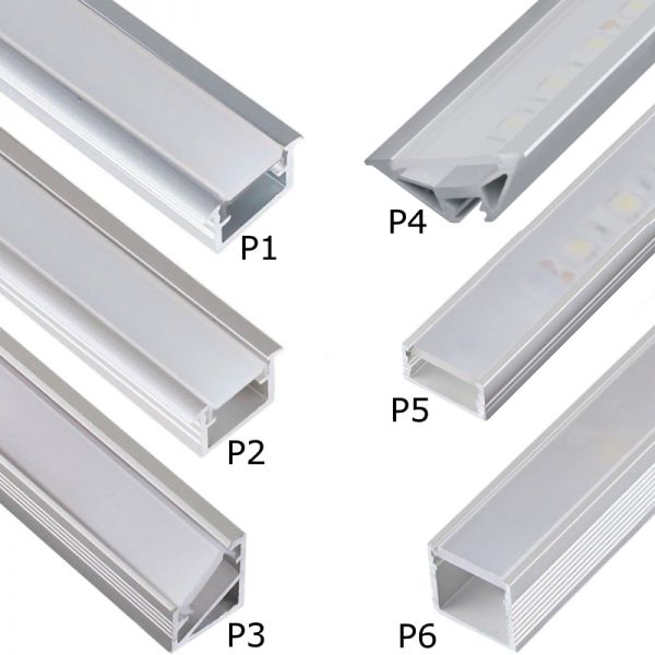 led aluprofil aluminium led profile 2m 1m alu schiene leiste f r led streifen ebay. Black Bedroom Furniture Sets. Home Design Ideas