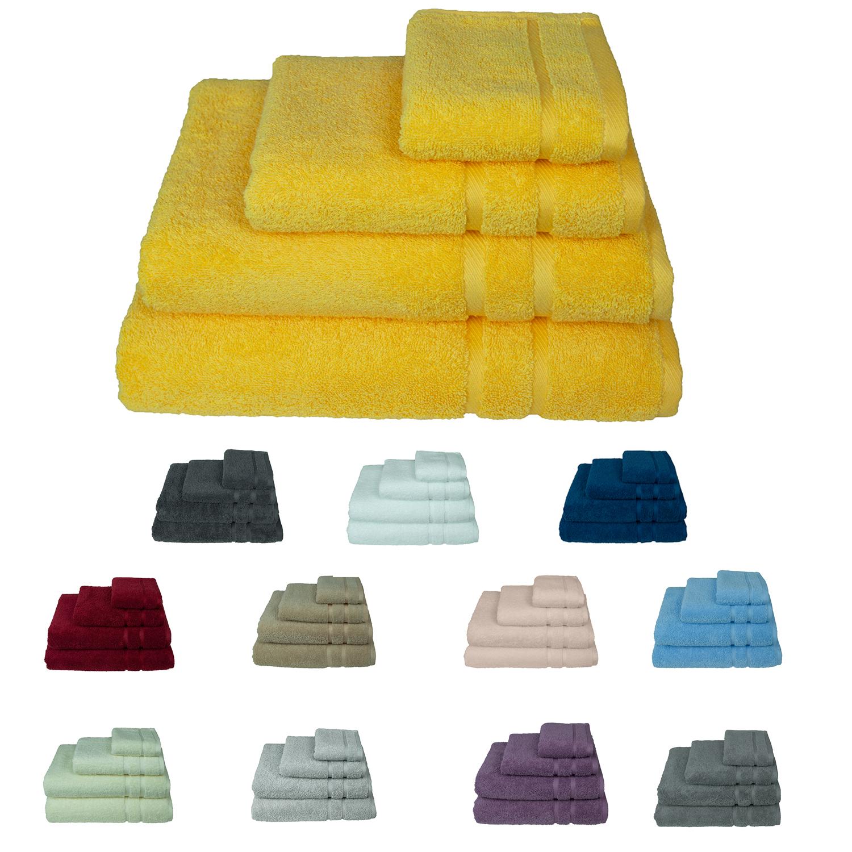 Handtücher Duschtücher Gästetücher Badetuch Waschhandschuhe Duschtuch 500g//m²