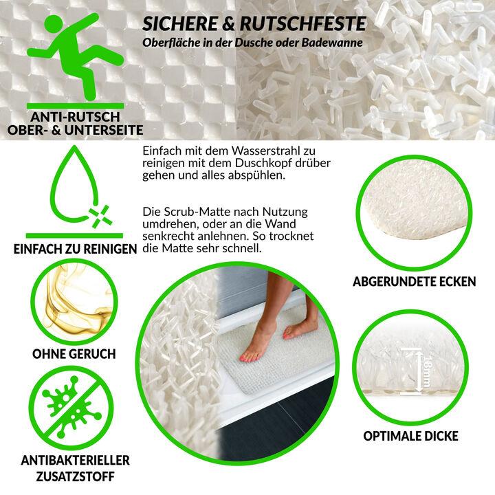 Hornhaut Entferner Scrub-Matte Fußreiniger für Dusche /& Badewanne Pflegeleicht