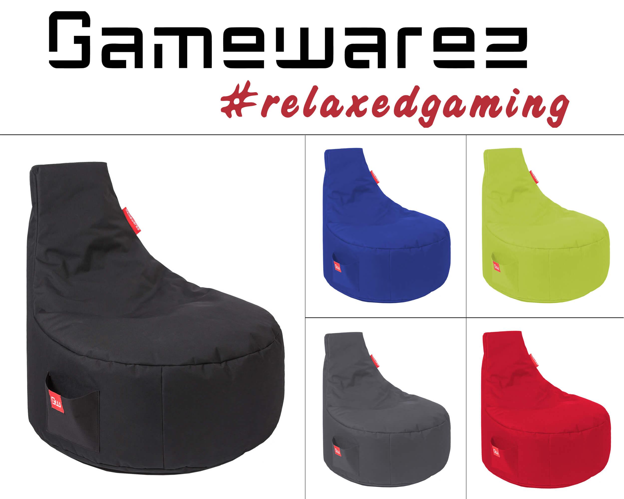 Gamewarez Sitzsack Classic Gamer Sessel Beanbag Lounge Chillout Sack XBOX PS4
