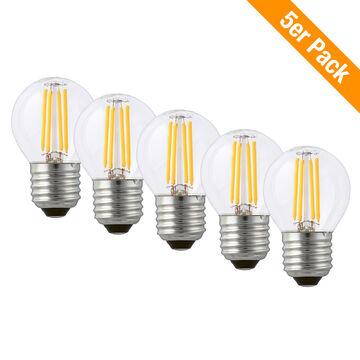 4 W klar 3er Set LED Glühbirne Birne Leuchtmittel Lampe E14 Warmweiß 2700 K