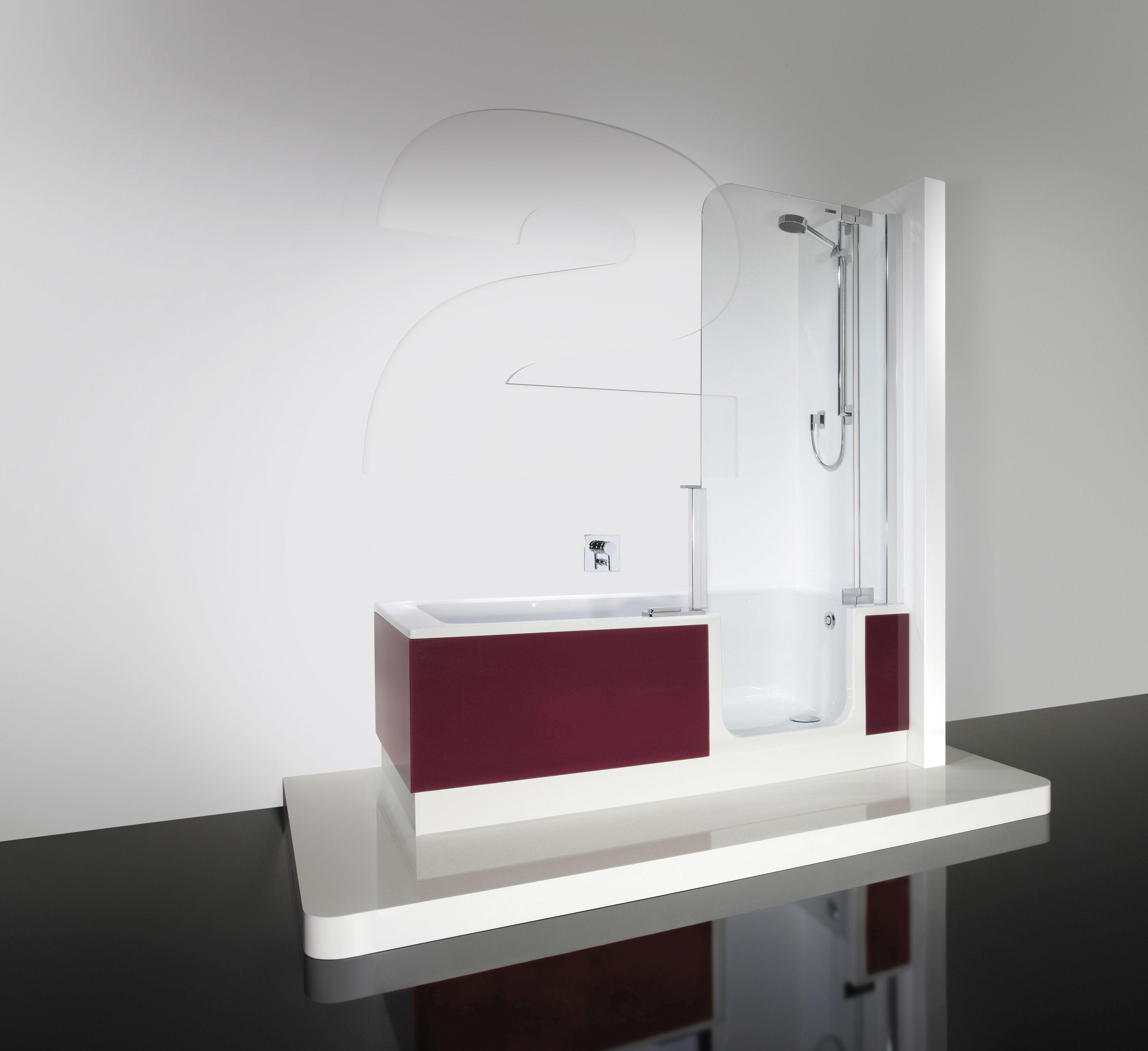 Duschbadewanne twinline  Artweger Twinline 2 Dusch Badewanne 170 x 75 cm mit Tür mit ...